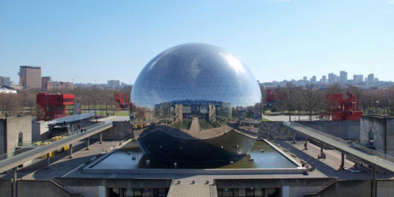 Paris la Villette cité des sciences et de l'industrie extérieur